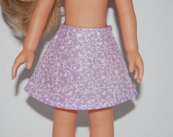 "Light Purple A-Line Skirt Doll Clothes Corolle 13"" Les Cheries 14"" Hearts for Hearts Betsy McCall  tkct936"