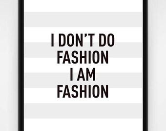 Wall art, PRINTABLE, fashion wall art, fashion gift idea, the world is my runway, fashion poster, fashion print, fashion art, 8x10, 16x20