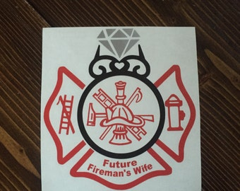Future Firefighter Wife Decal | Maltese Cross Decal | Mug Decal | Fireman's  Girlfriend | Fire Wife Decal | Firefighter Decal | Fire Sticker