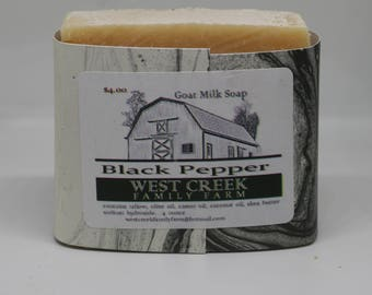 Black Pepper Goat Milk Soap