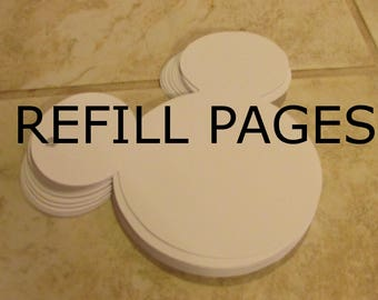 REFILL PAGES for any Previous order of Disney Handmade Character Autograph Book Order