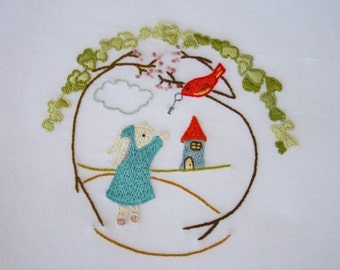 Under the Ivy Embroidery Pattern PDF No shipping fee
