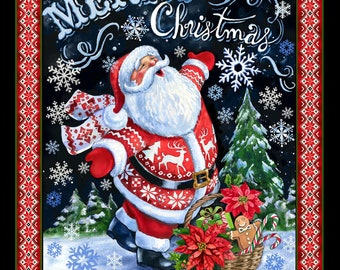 Merry Christmas Santa Panel by Timeless Treasures