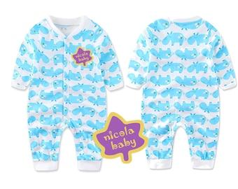 Nicolababy 100% cotton baby toddler one-piece romper