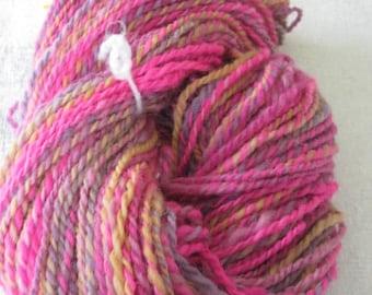 Hand Spun Art Yarn, Tuitti Fruitti.