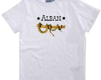 T-shirt boy snake personalized with name