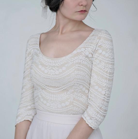 Maegan - rustic bridal top