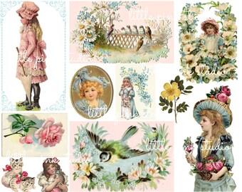 Pretty Things,  Printable Collage Sheet (digital download, printable)
