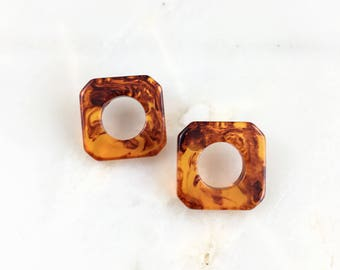 Vintage Amber Bakelite Earrings