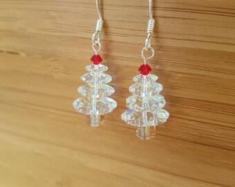 SWAROVSKI CRYSTAL Christmas Tree Earrings | Holiday | Gift |