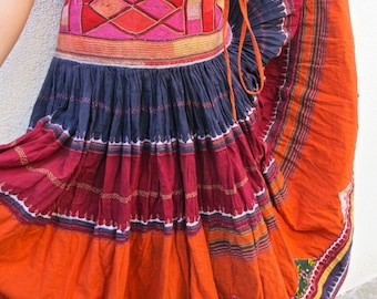 Vintage Indian Banjara Gypsy Textile Midi/Maxi Skirt
