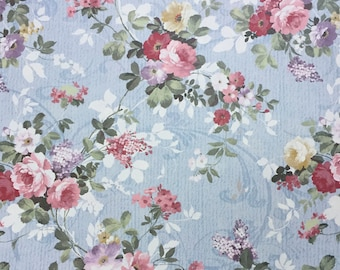 Pink Rose Paper, Floral Paper, Country Flowers, Decoupage Paper, Wrapping Paper, Floral Pattern, Delicate Floral Paper, Scrapbooking, Roses