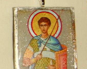 St Demetrios Pendant inv1702