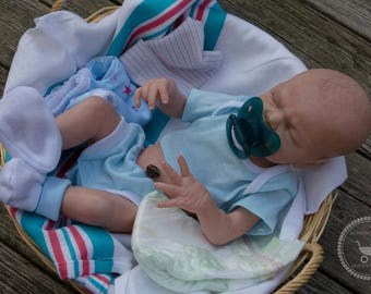 Reborn baby boy Max | Full Vinyl reborn baby boy