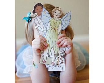 Paper Doll Coloring Book PDF