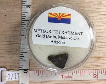Vintage Gold Basin Arizona USA Meteorite Fragment Specimen Used Lot AF