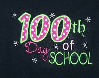 SHIP TODAY - 100th Day of School Shirt Youth SMALL only