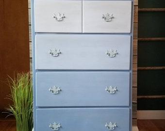 Blue Ombre Dresser