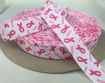 7/8 inch x 10 yards Grosgrain Ribbon...Cancer Awareness Ribbon--On Sale Now...FREE SHIPPING