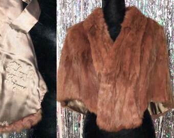 New Williams Birmingham Co. Mink Fur Stole *Excellent Condition