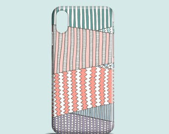 Pastel Fields phone case / pastel iPhone X, iPhone 8, iPhone 7, iPhone 7 Plus, iPhone SE, iPhone 6/6S, iPhone 5/5S / illustrated phone case