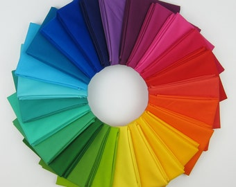 Kona Cotton Designer Palette Fat Quarter Bundle - Summer Patchwork City - Elizabeth Hartman - 25 FQs