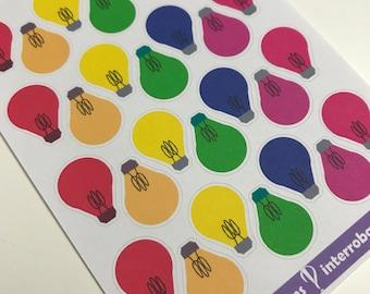 A16 - Light Bulb Planner Sticker