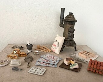 Dollhouse Miniature, Kitchen accessories in 1:12 scale - Set nr 2