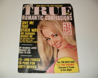 Vintage True Romantic Confessions Magazine October 1968 - Campy  Spicy Stories - Hair Styles Paper Ephemera Retro 1970s