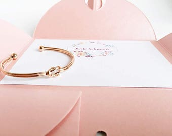 ROSE GOLD knot bangle, friendship gift