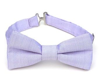 Light purple silk bow tie, lavender bow tie, purple bow tie, for boys, for toddler, pale purple bow tie, for baby, for little boy
