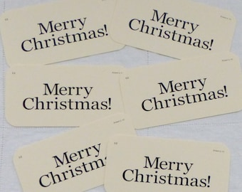 Merry Christmas Flash Card set