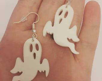 Gothic White Ghost Earrings