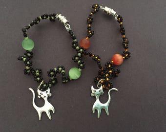 Black Cat Halloween Bracelet