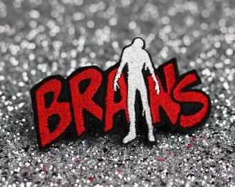 Brains Hair Clip, Zombie Brains, Red and White
