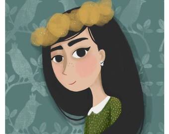 Mielikki (Lady of the Forest) Print - 8x10