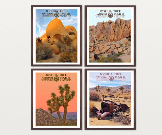 Joshua Tree National Park Poster - Joshua Tree Art - WPA Poster - WPA Art - WPA - National Park Poster - Joshua Tree California - Desert Art