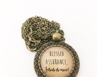 Blessed Assurance, Jesus is Mine. Hendersweet Necklace.