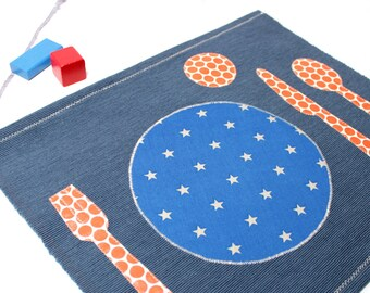 Montessori Placemat, Montessori Practical Life, Kids Placemats,Material Montessori, Fabric Placemat, Kids Cotton Placemats, Place Setting