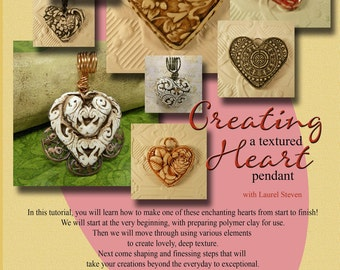 TUTORIAL - Creating a Textured Heart Pendant in Polymer Clay