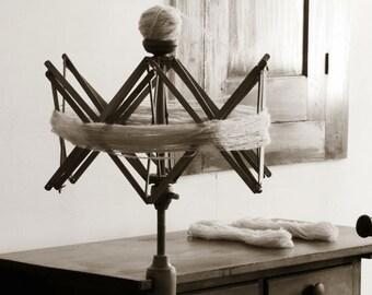 Yarn Winding Photograph - Craft Room Decor - Knitting Room Art - Home Decor - Sewing Room Decor - Wall Art - Retro Art - Fine Art Photograph