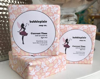 """Red Currant Thyme Tea Soap, Elegant Soap, Spa Soap, Handmade Soap, """"Current Time"""""""