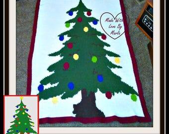 Christmas Tree TSS Graph, Word Chart, Christmas Tree Afghan