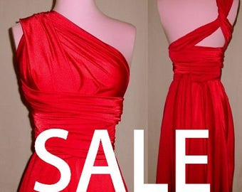 Red Dress Sale - Red Infinity Convertible Dress - Please Read Description -  Red Bridesmaids Dresses