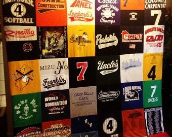 Custom T-shirt Memory Blanket For Him KING LARGE