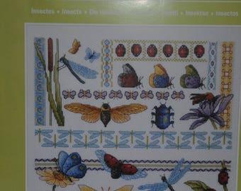 "the ""bugs"" cross stitch Embroidery pattern"