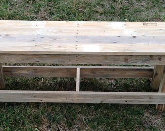 Plank Bench, repurposed wood, free shipping