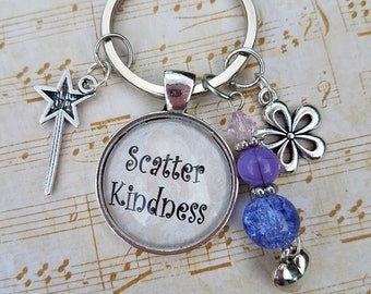 Scatter Kindness Charm Key Chain
