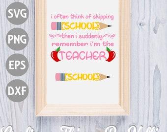 Skipping School SVG