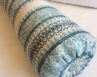 Frascati blues  bolster  lumbar accent throw pillow 6x14 6x16 6x18 6x20 6x22